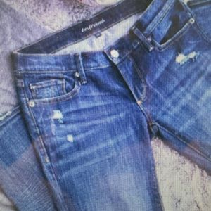 Driftwood distressed skinny jeans